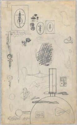 Studies for Constructivist Sculptures (verso)