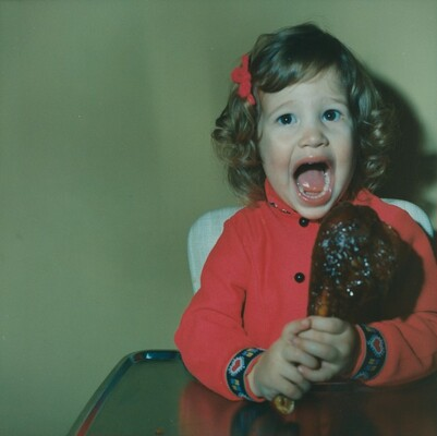Untitled (Girl with piece of meat)
