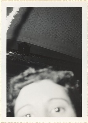 Untitled (Blurred upper half of woman's face)