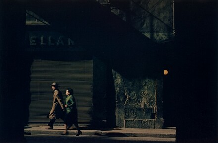 Couple Walking Down Street, Venice