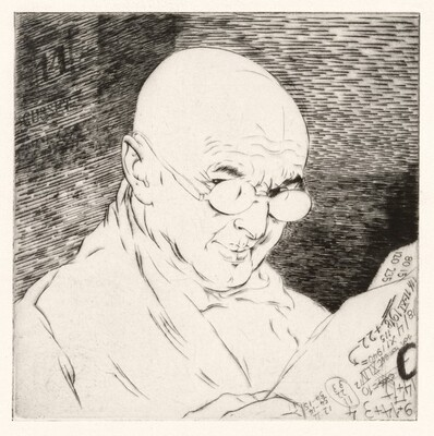 Le Numéraliste / Auto-portrait (Numerologist / Self-Portrait) [plate 14]