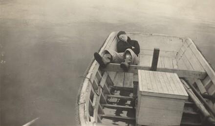 Untitled (Man asleep in rowboat)