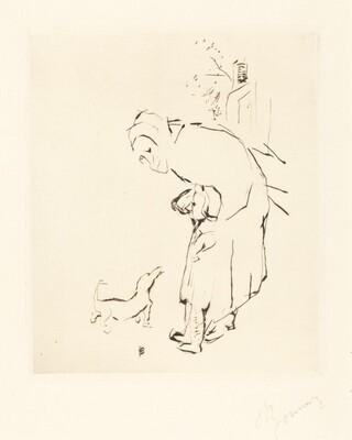 La Vielle femme, l'enfante, et le basset (The Old Woman, the Child, and the Basset Hound)