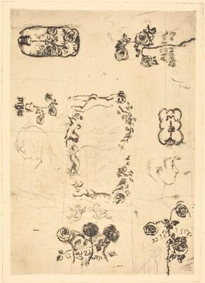 Preliminary Design of Book-plates for Misia Natanson Edwards Sert