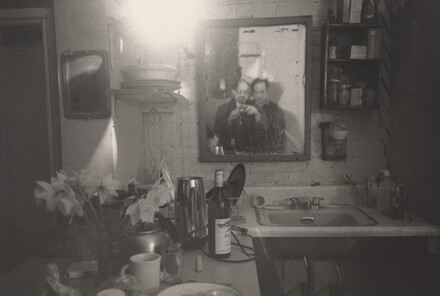 Robert Frank and Allen Ginsberg at Frank's Apartment