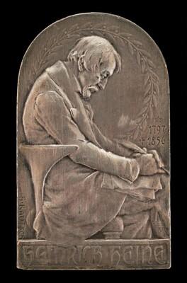 Heinrich Heine, 1797-1856, German Romantic Poet (obverse)