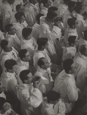 French Croix de Bois Choir Members at a Papal Mass
