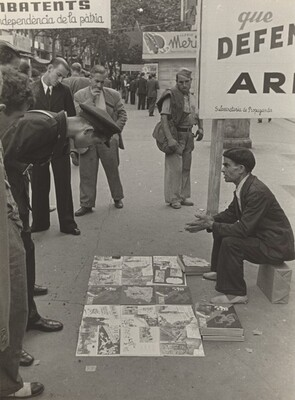 Street Vendor, Barcelona, Spanish Civil War