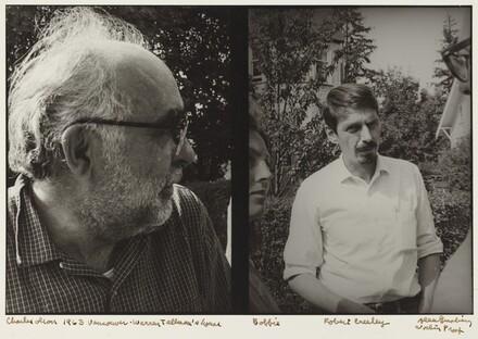 Charles Olson 1963 Vancouver. Warren Tallman's house. Bobbie. Robert Creeley Working Proof.