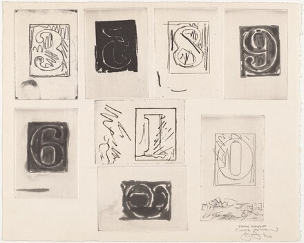 Untitled (State Proofs and Proofs of Numbers) [state proof with pencil - 3, 5, 8, 9, 6, 1, 0]