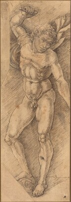 A Naked Warrior with One Foot on a Helmet (Mantegna Imitation)