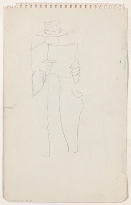 Standing Man Reading [verso]