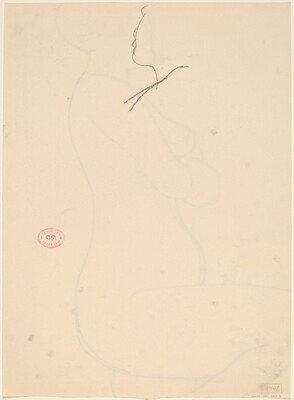 Untitled [sketch of a profile] [verso]