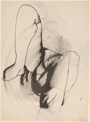 Untitled [close-up view of reclining nude] [verso]