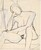Untitled [seated nude resting her head on her right hand] [verso]