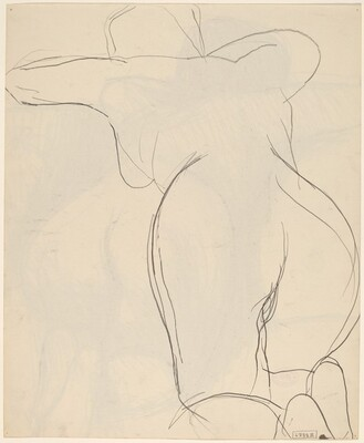 Untitled [back and buttocks view of a kneeling female nude] [verso]
