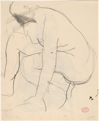 Untitled [crouching nude] [verso]