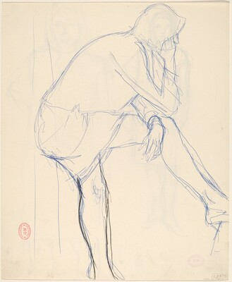 Untitled [side view of woman] [verso]
