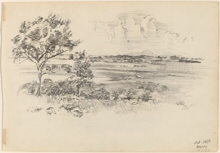 Landscape with Disstant Mountains [verso]