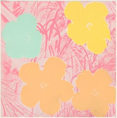 Flowers (gold, light blue, yellow, pink)