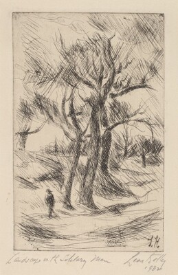 Landscape With Solitary Man
