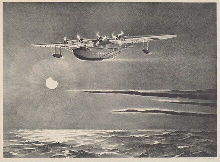 Untitled (Seaplane Over the Ocean)