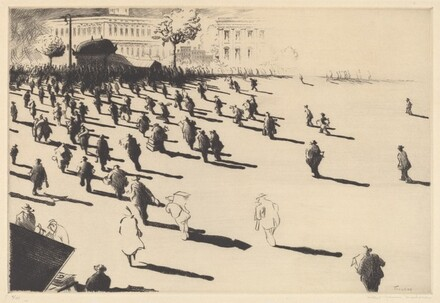Untitled (Figures Heading Toward Subway)