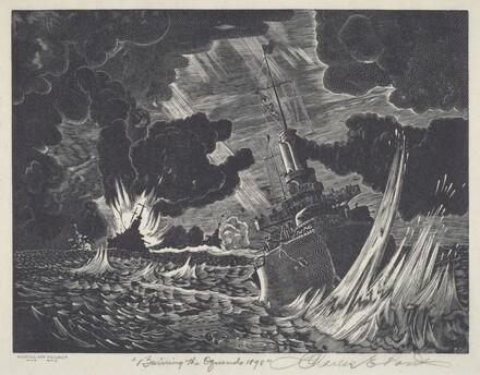 Burning the Oquendo 1898