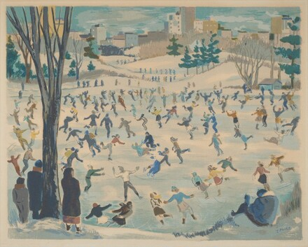 Untitled (Ice Skaters in Central Park)
