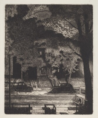 Untitled  (Frontyards at Night)