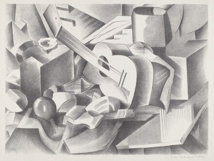 Untitled (Still Life with Guitar and Fruit)