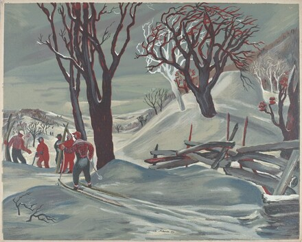 Untitled (Cross-country Skiers)