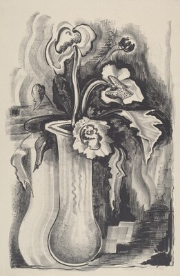 Untitled (Vase With Iris And Poppies)