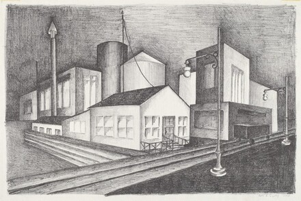 Untitled (Factory with Railroad Siding)