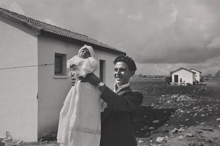 The First Child Born in the Italian Immigrant Settlement of Alma, Israel