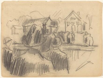 Men in a Village Square