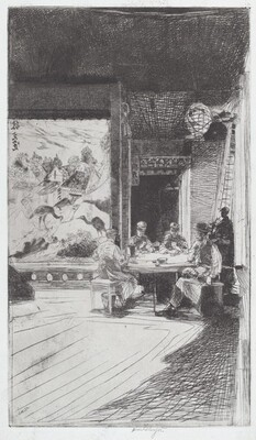 Chinese Card Players (plate A)