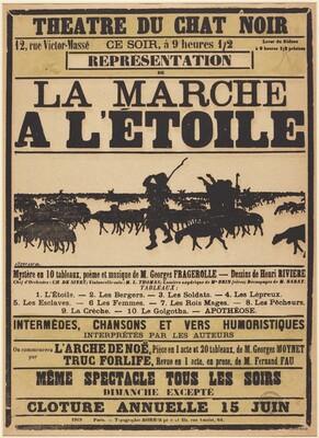 Poster for Le Chat Noir: La march à l'Étoile