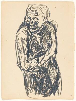 Half-Figure Sketch of a Woman