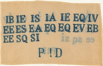 Untitled (P ! D) (recto)