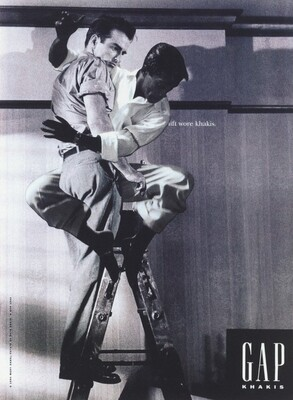 Sammy Davis Jr. Caressing Montgomery Clift on a Ladder Proof #1