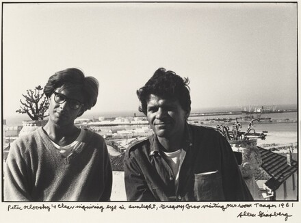 Peter Orlovsky's clear inquiring eye in sunlight, Gregory Corso visiting our room, Tangier