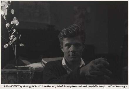 Peter Orlovsky in my room 1010 Montgomery Street looking tender and mad, hopeful & happy.