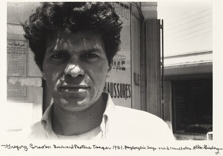 Gregory Corso on Boulevard Pasteur Tangier 1961. Psilocybin Days. Arab & French Posters.