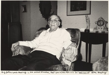 My father Louis Ginsberg in his velvet Armchair, last year of his life 1976. See Don't Grow Old.
