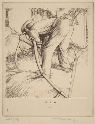 Man with a Scythe