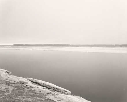 Concrete and ice, Missouri River, Clay County, South Dakota