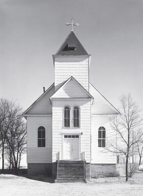 Catholic church, winter. Ramah, Colorado