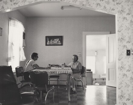 Kerstin and Mrs. Leslie Ross, on the Ross wheat farm, near Peetz, Colorado
