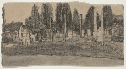 Untitled (Farmscape with Totems) [recto]